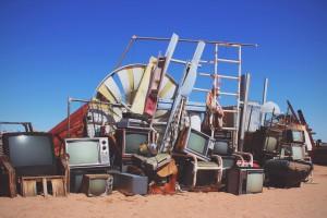 pile of tvs
